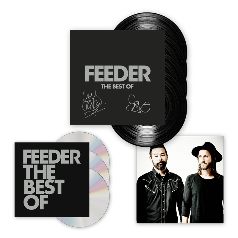 Buy Online Feeder - The Best Of 4LP (Signed) + 3CD Deluxe Album (w/ Exclusive Art Print)