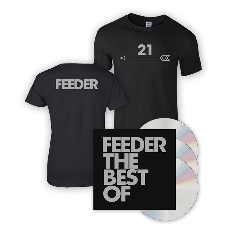 Buy Online Feeder - The Best Of 3CD Deluxe Book Album + T-Shirt