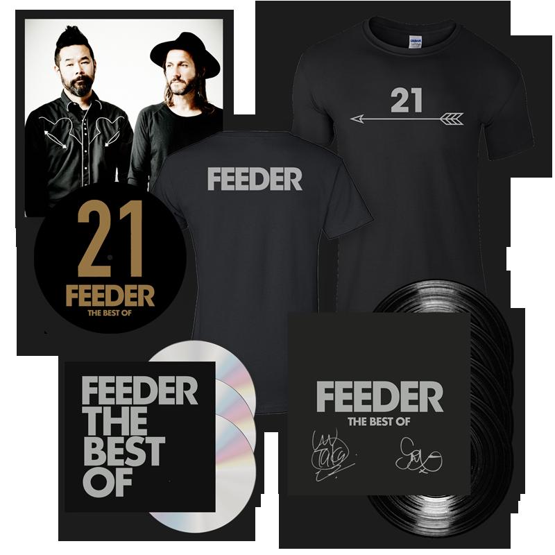 Buy Online Feeder - The Best Of 4LP Deluxe (Signed) + 3CD Deluxe + T-Shirt + Slipmat (w/ Exclusive Art Print)