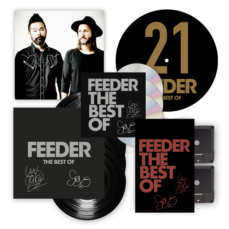 Buy Online Feeder - The Best Of 4LP Deluxe (Signed) + 3CD Deluxe + Slipmat + Cassette (w/ Exclusive Art Print)