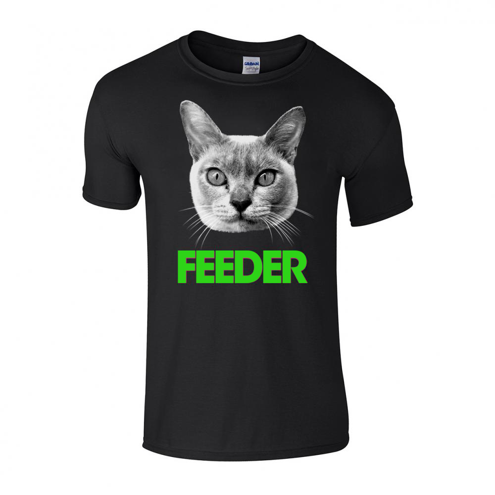 Buy Online Feeder - Green Cat T-Shirt