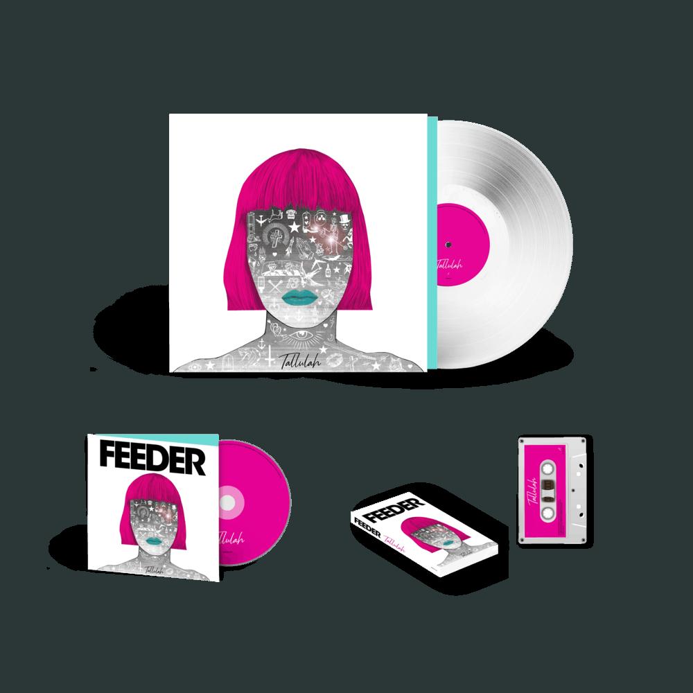 Buy Online Feeder - Tallulah - Deluxe CD White Vinyl & White Cassette
