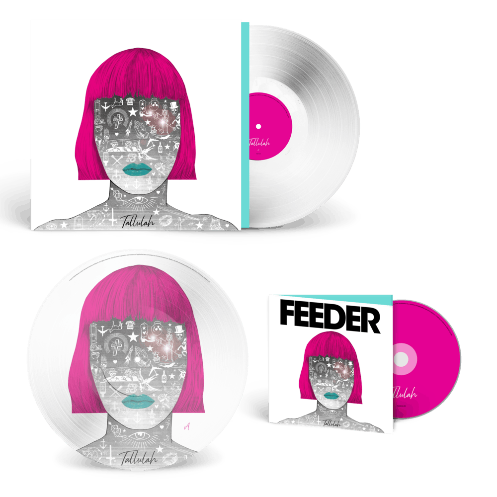 Buy Online Feeder - Tallulah - Deluxe CD & White Vinyl & Picture Disc Vinyl (Signed)