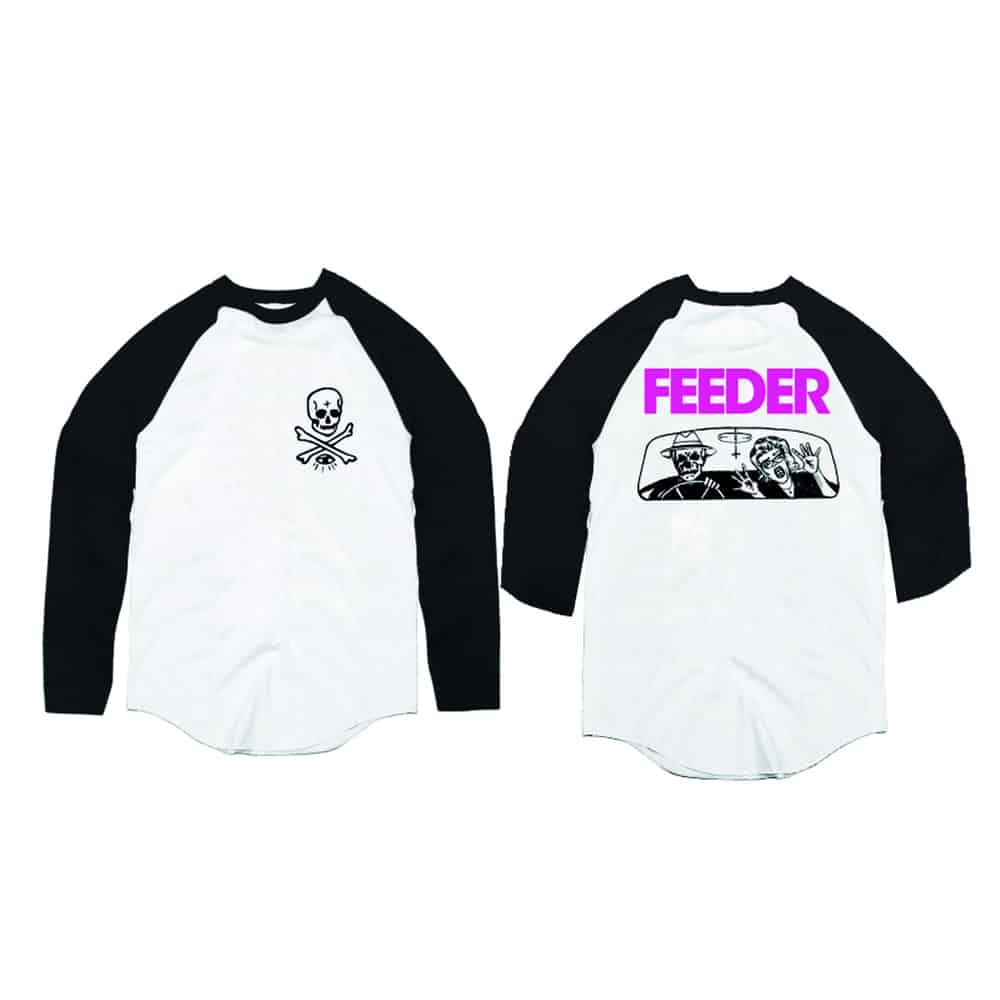 Buy Online Feeder - Skull and Crossbones Baseball Tee