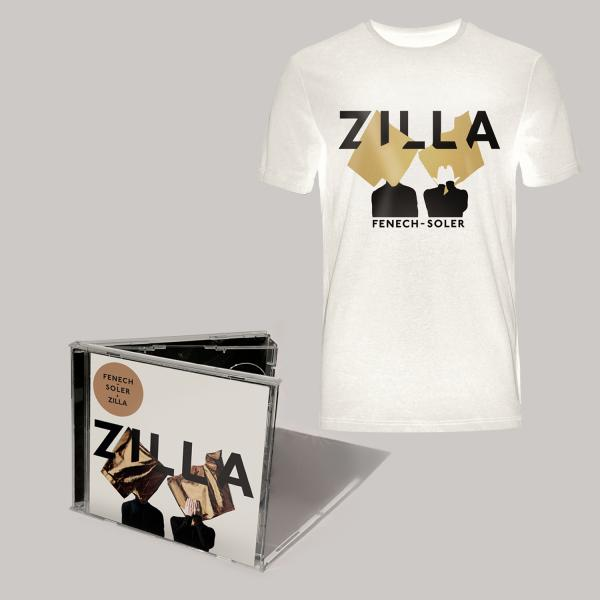 Buy Online Fenech-Soler - Zilla CD Album (Signed) + Silhouette White T-Shirt