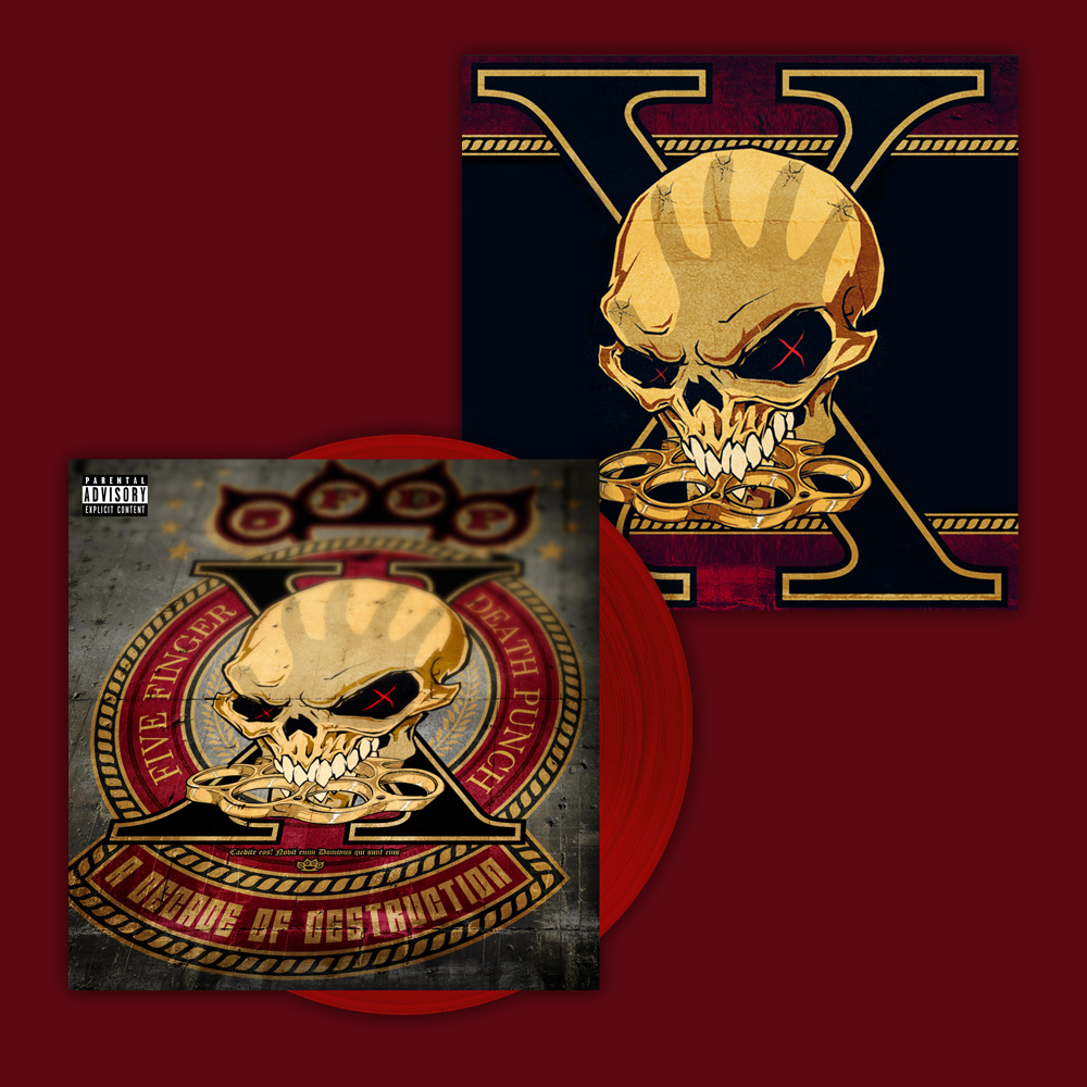 Buy Online Five Finger Death Punch - A Decade Of Destruction Blood Red Vinyl (Ltd Edition) + Exclusive 12 x 12 Artwork Print (Ltd Edition, Numbered)