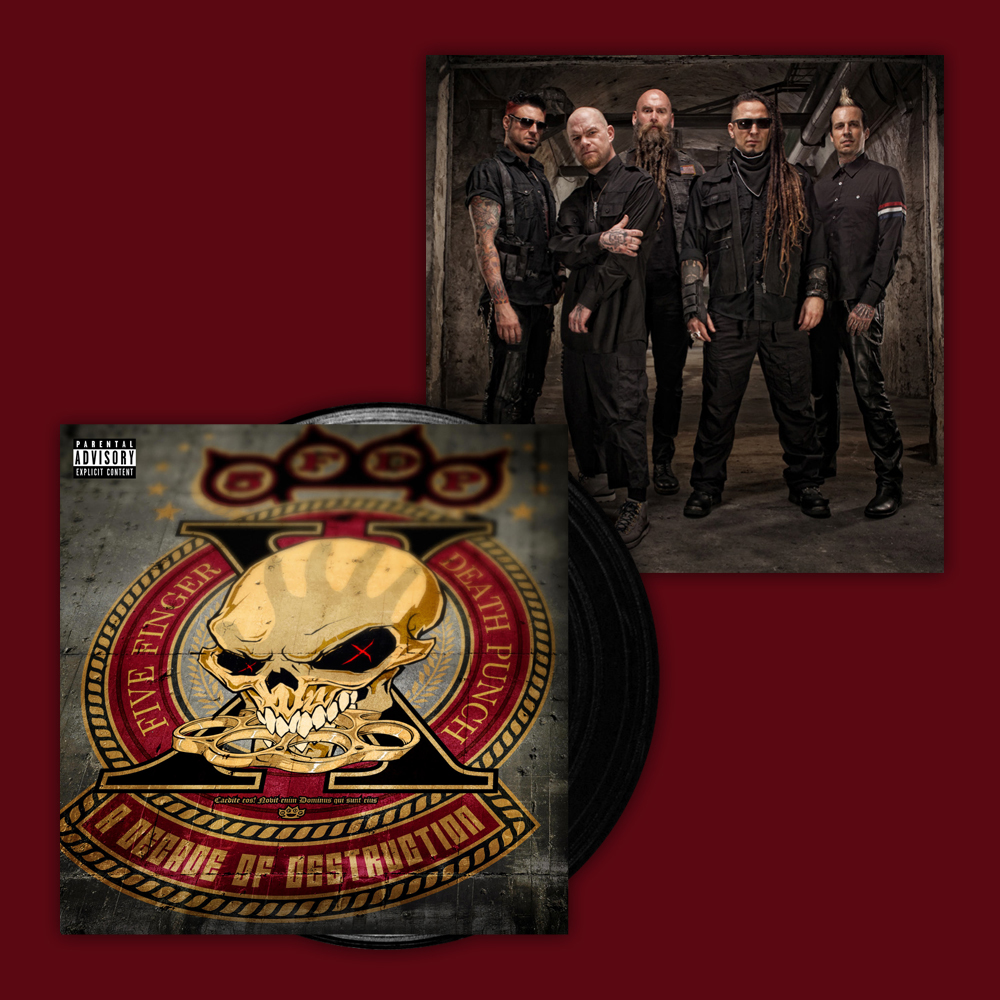 Buy Online Five Finger Death Punch - A Decade Of Destruction Black Vinyl + Exclusive 12 x 12 Band Photo Print (Ltd Edition, Numbered)