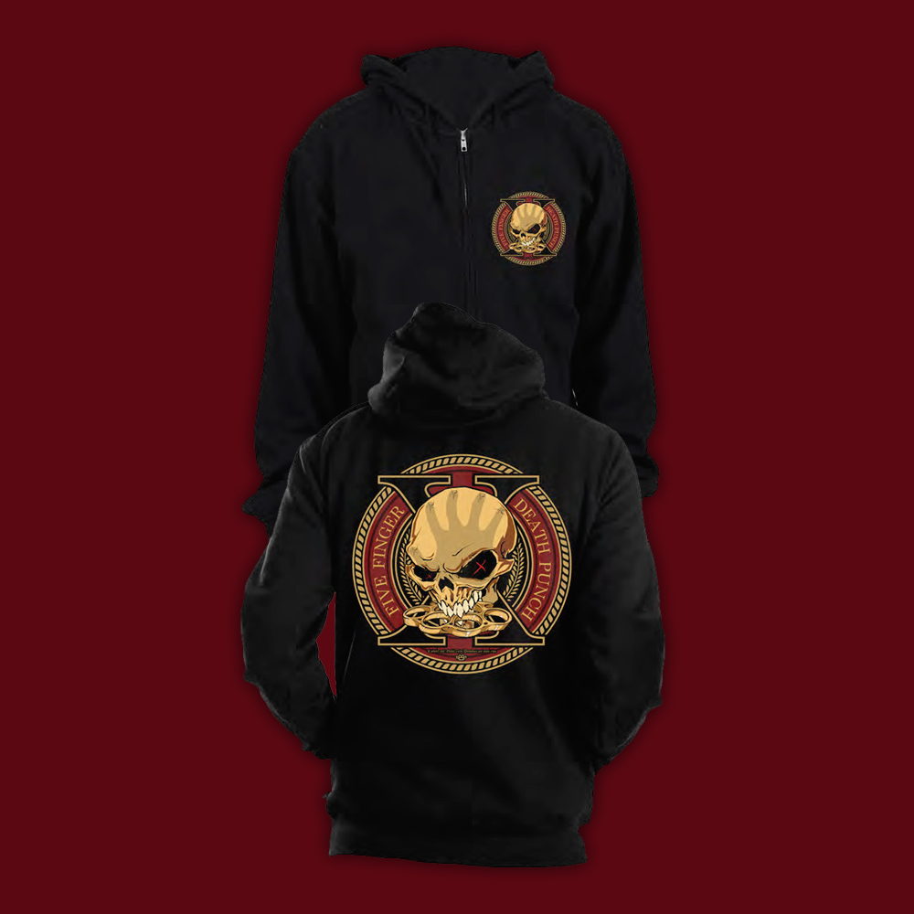 Buy Online Five Finger Death Punch - A Decade Of Destruction Hoody