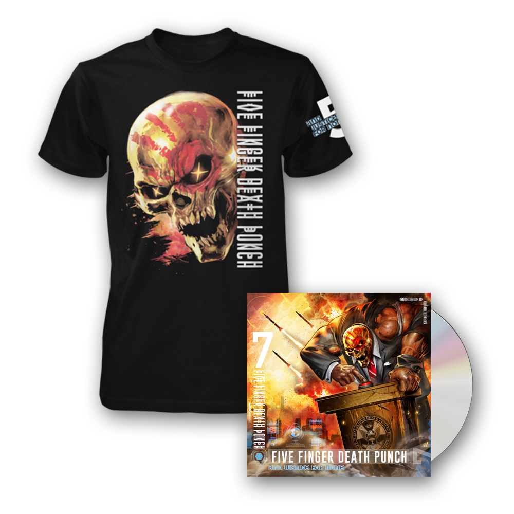 Buy Online Five Finger Death Punch - And Justice For None Standard CD + T-Shirt