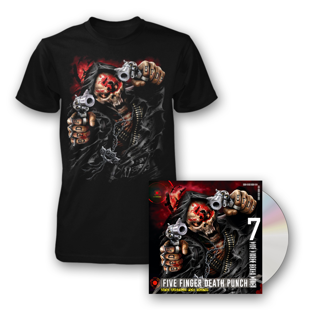 Buy Online Five Finger Death Punch - And Justice For None Deluxe CD + Assassin T-Shirt