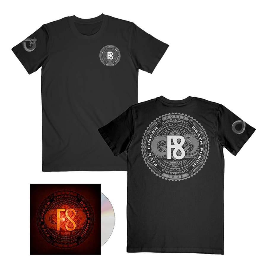 Buy Online Five Finger Death Punch - F8 CD Digipack + T-Shirt