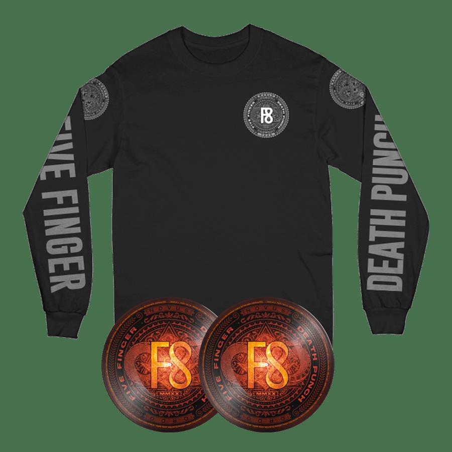 Buy Online Five Finger Death Punch - F8 Double Picture Disc Vinyl + Long Sleeve T-Shirt