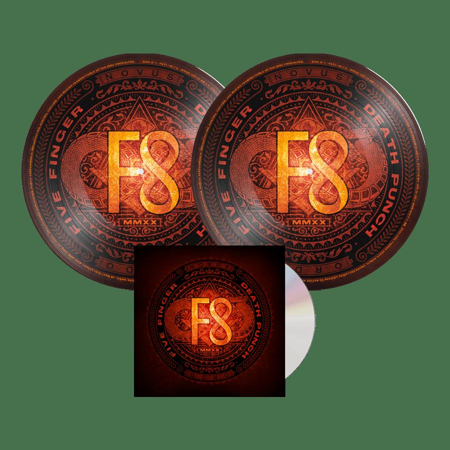 Buy Online Five Finger Death Punch - F8 CD Digipack + Double Picture Disc Vinyl