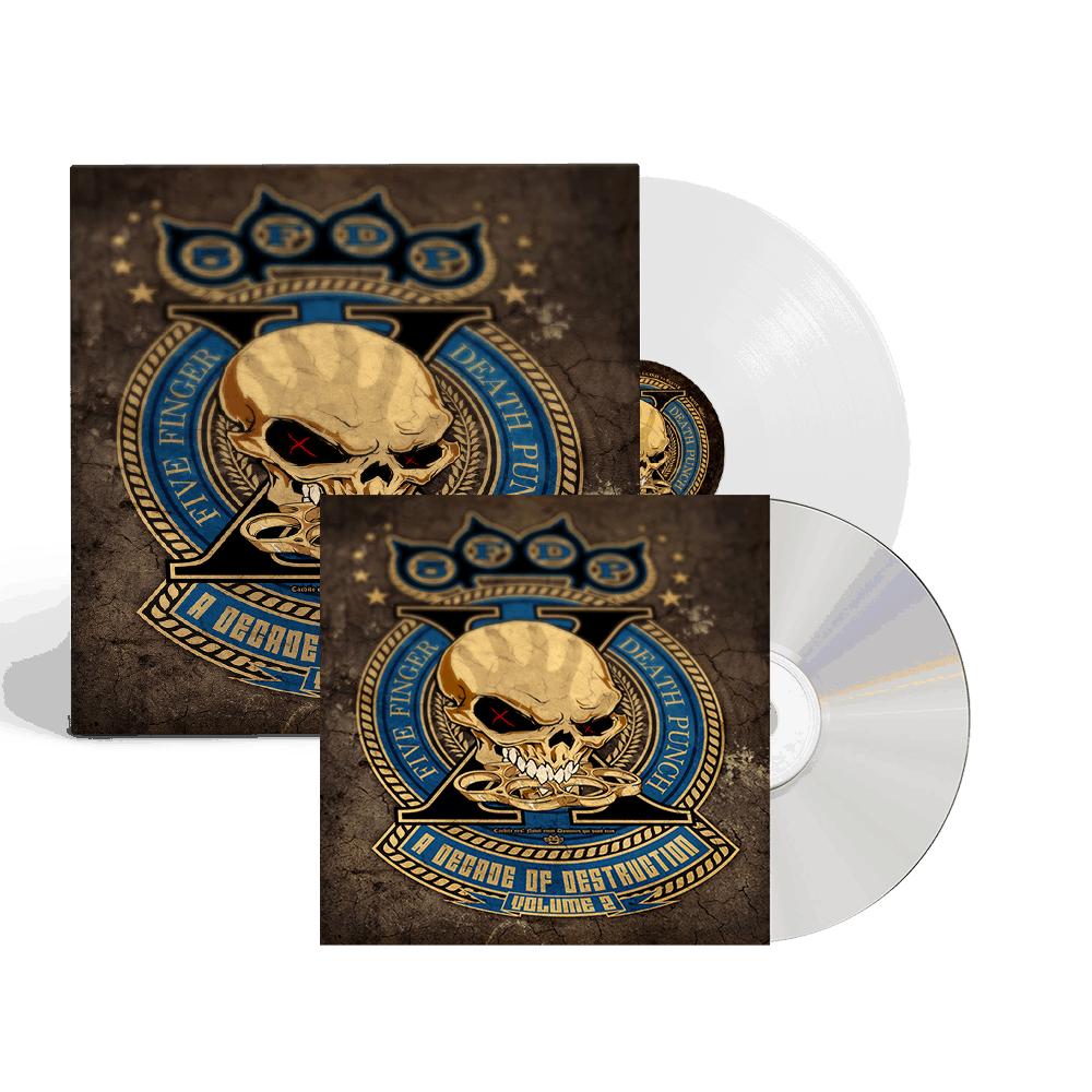 Buy Online Five Finger Death Punch - A Decade Of Destruction Vol II White Vinyl 2LP + CD