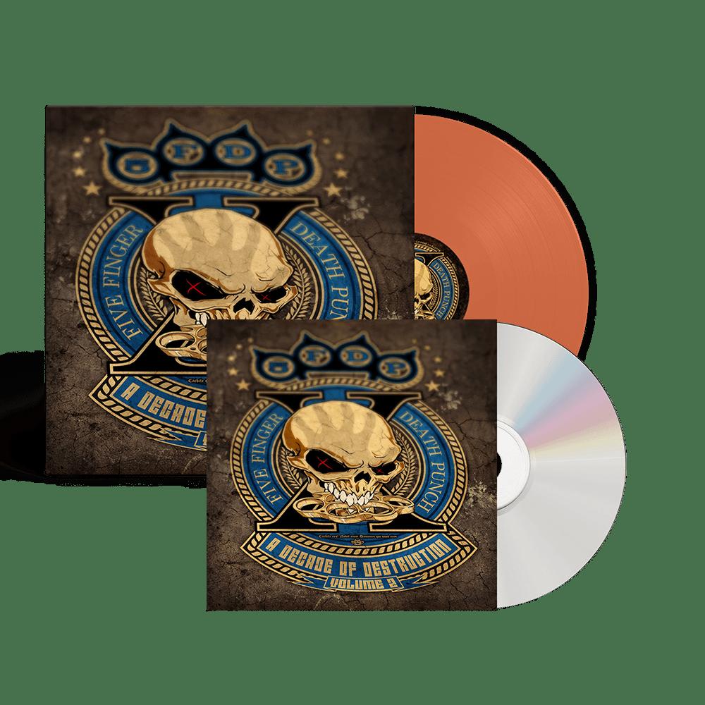 Buy Online Five Finger Death Punch - A Decade Of Destruction Vol II Orange Vinyl 2LP + CD
