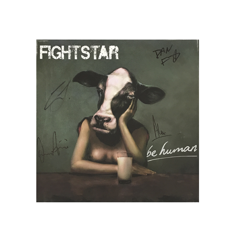 Buy Online Fightstar - Cows Head Be Human Signed Canvas Picture