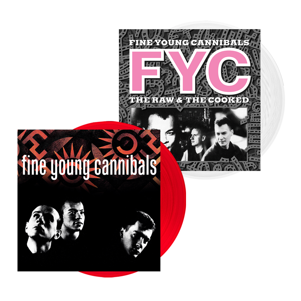 Buy Online Fine Young Cannibals - Fine Young Cannibals Red Vinyl + The Raw & The Cooked White Vinyl