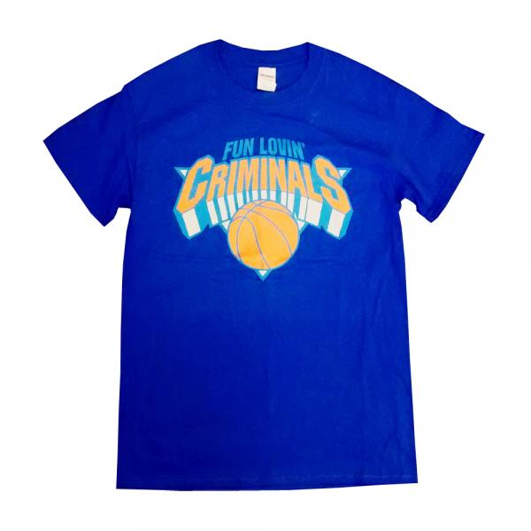 Buy Online Fun Lovin Criminals - Blue Basketball T-Shirt