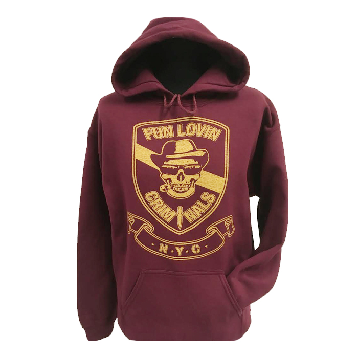 Buy Online Fun Lovin Criminals - Skull Hooded Sweatshirt