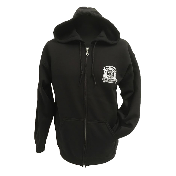 Buy Online Fun Lovin Criminals - Police Badge Zip Hooded Sweatshirt