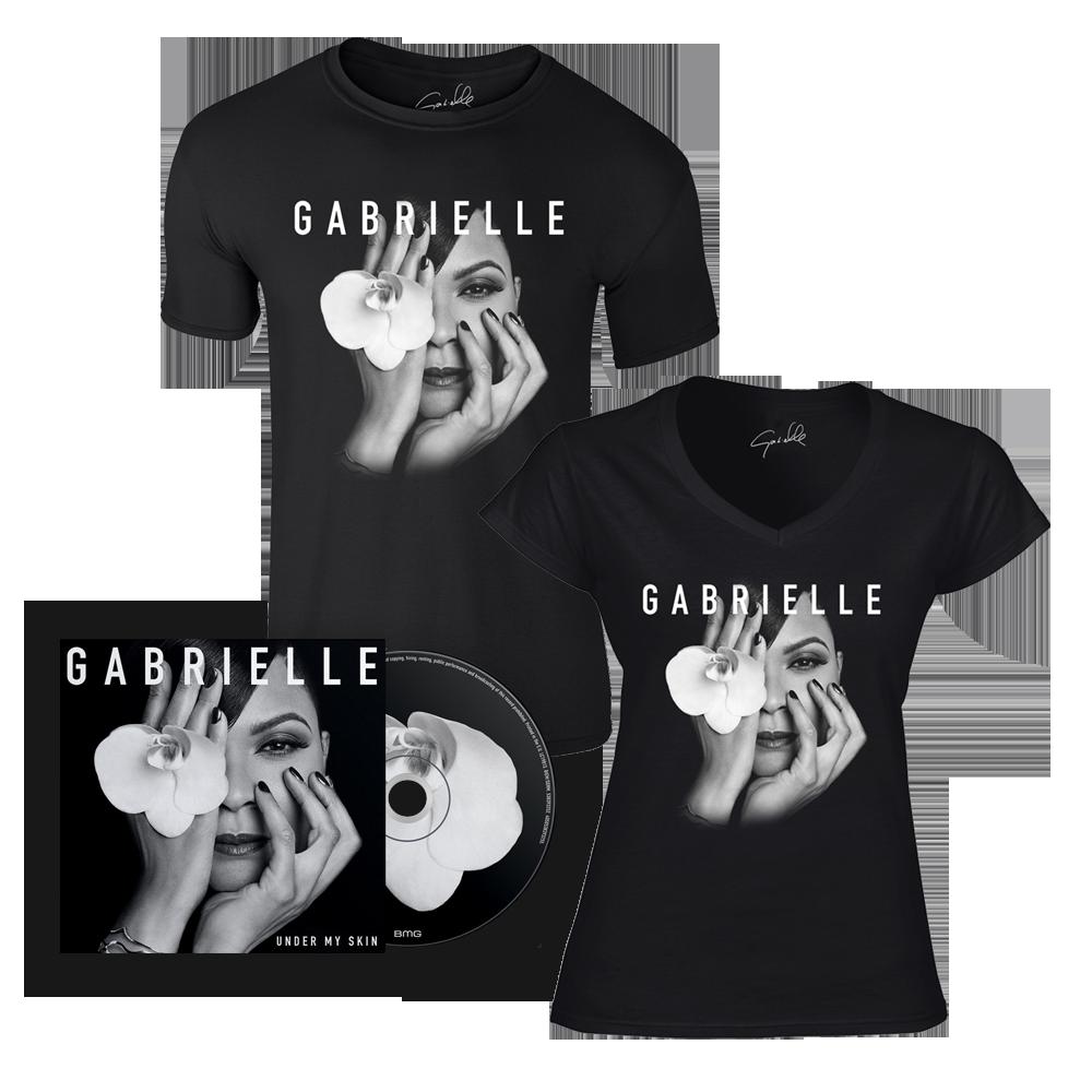 Buy Online Gabrielle - Under My Skin CD + T-Shirt