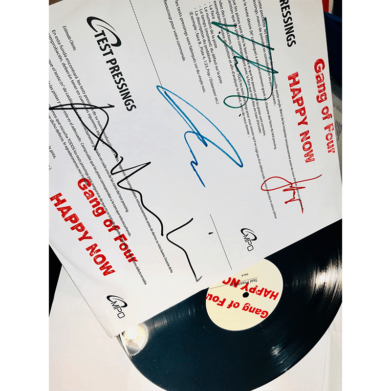 Buy Online Gang of Four - Happy Now - Test Pressing Vinyl (Signed)