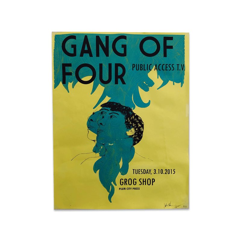 Buy Online Gang of Four - Grog Shop Poster