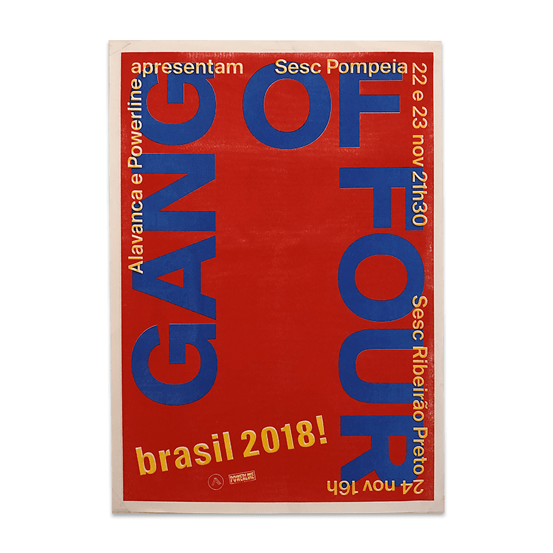 Buy Online Gang of Four - November 2018 Brazil Poster