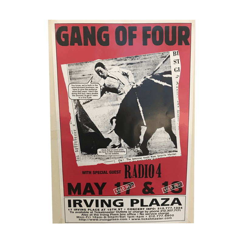 Buy Online Gang of Four - Irving Plaza Poster