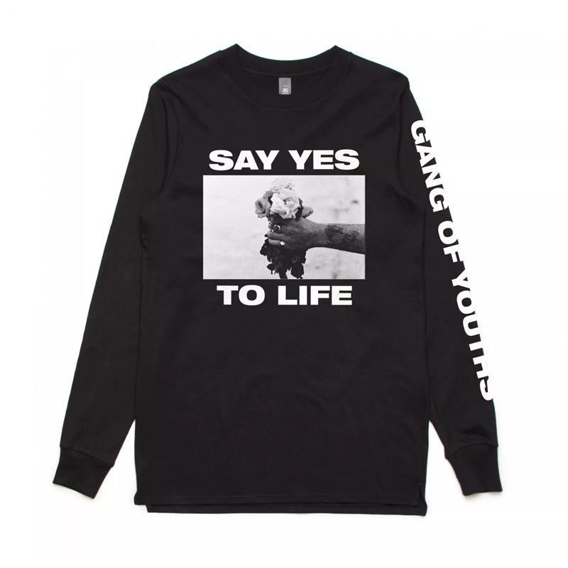 Buy Online Gang Of Youths - Black Say Yes Longsleeve Tee