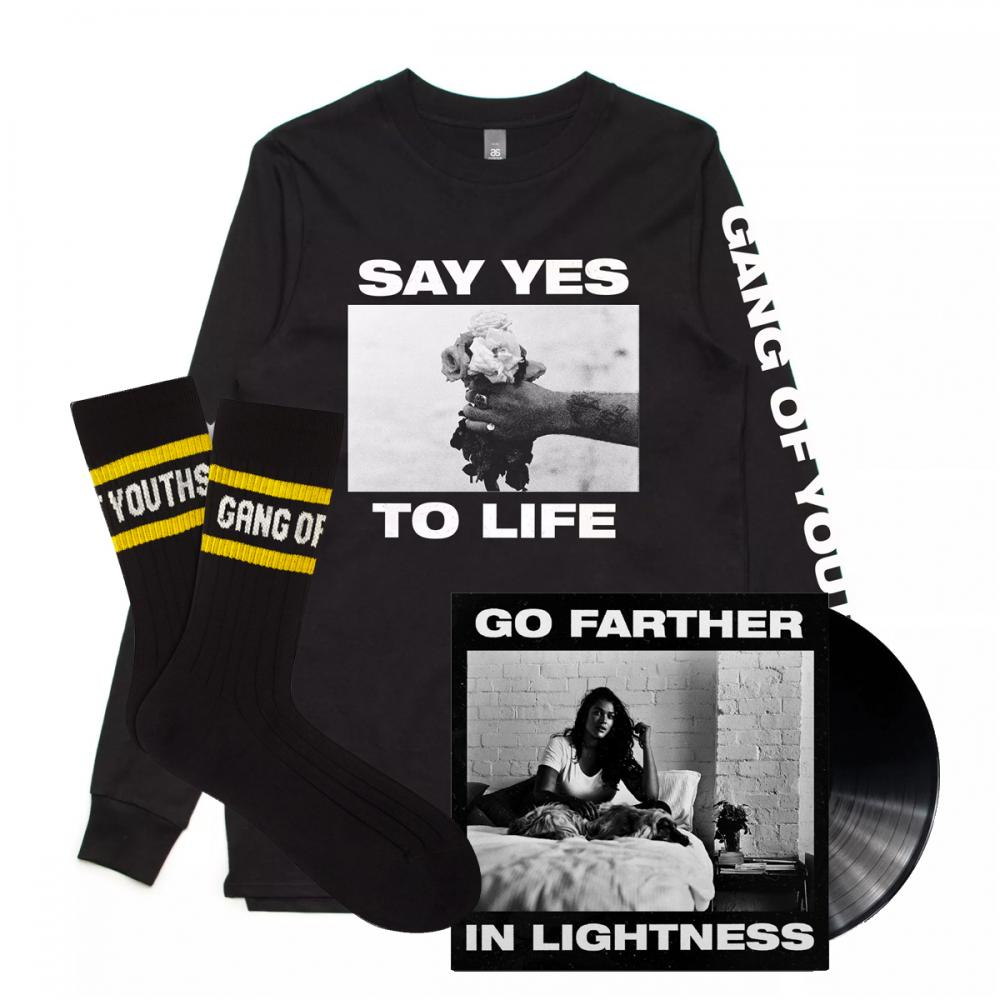 Buy Online Gang Of Youths - Say Yes Longlseeve + Vinyl + Socks
