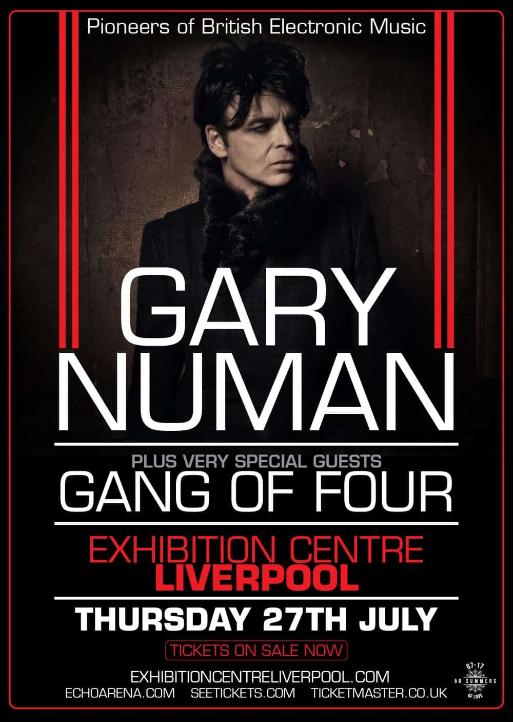 Buy Online Gary Numan - Liverpool VIP Meet & Greet (July 27)