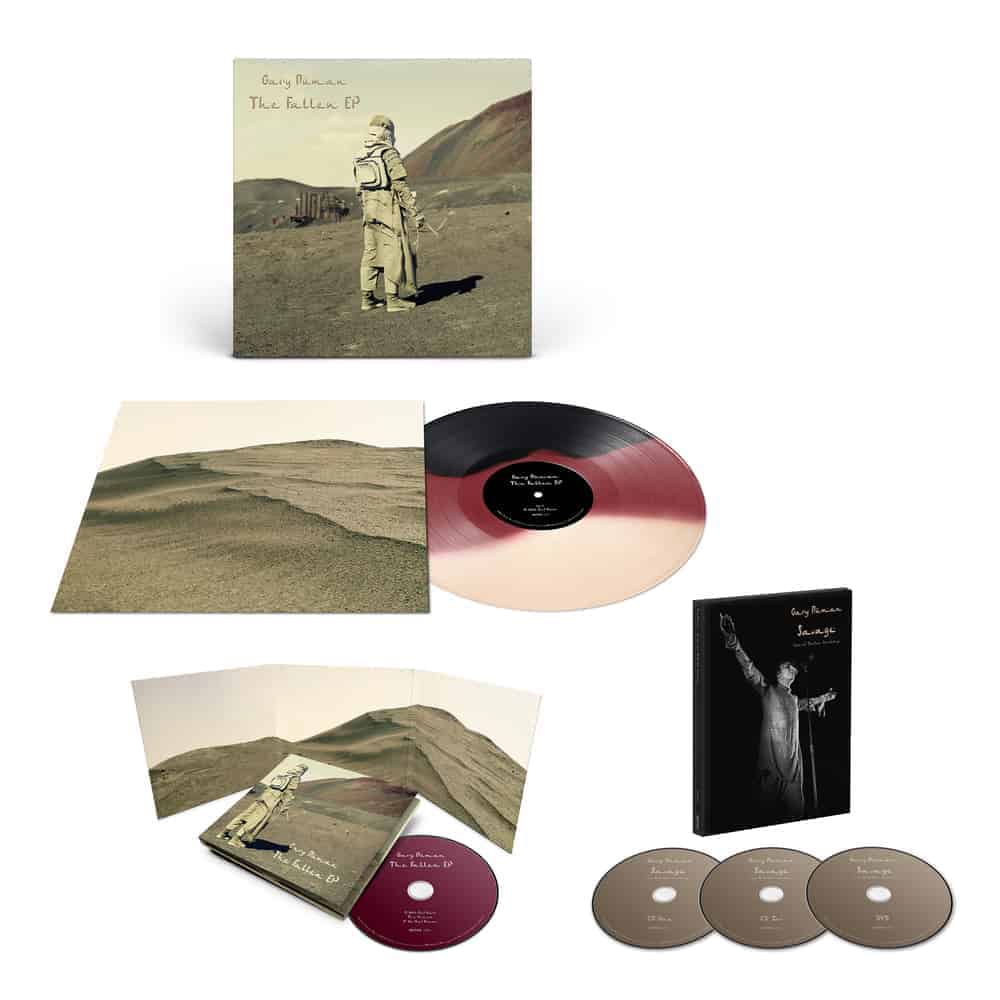 Buy Online Gary Numan - Savage - Live At Brixton Academy 2CD+DVD + The Fallen Vinyl EP + CD EP
