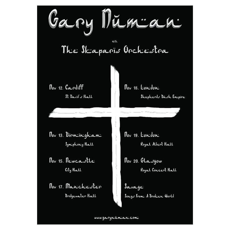 Buy Online Gary Numan - Skaparis Orchestra Poster