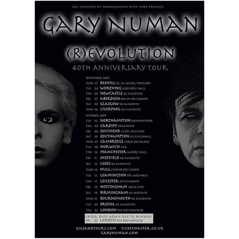 Buy Online Gary Numan - (R)evolution Tour 2019