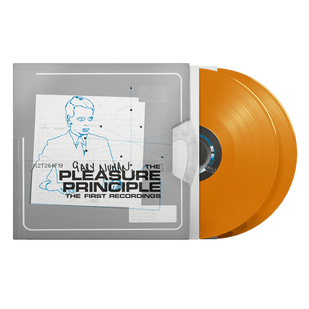 Buy Online Gary Numan - The Pleasure Principle – The First Recordings Orange Coloured