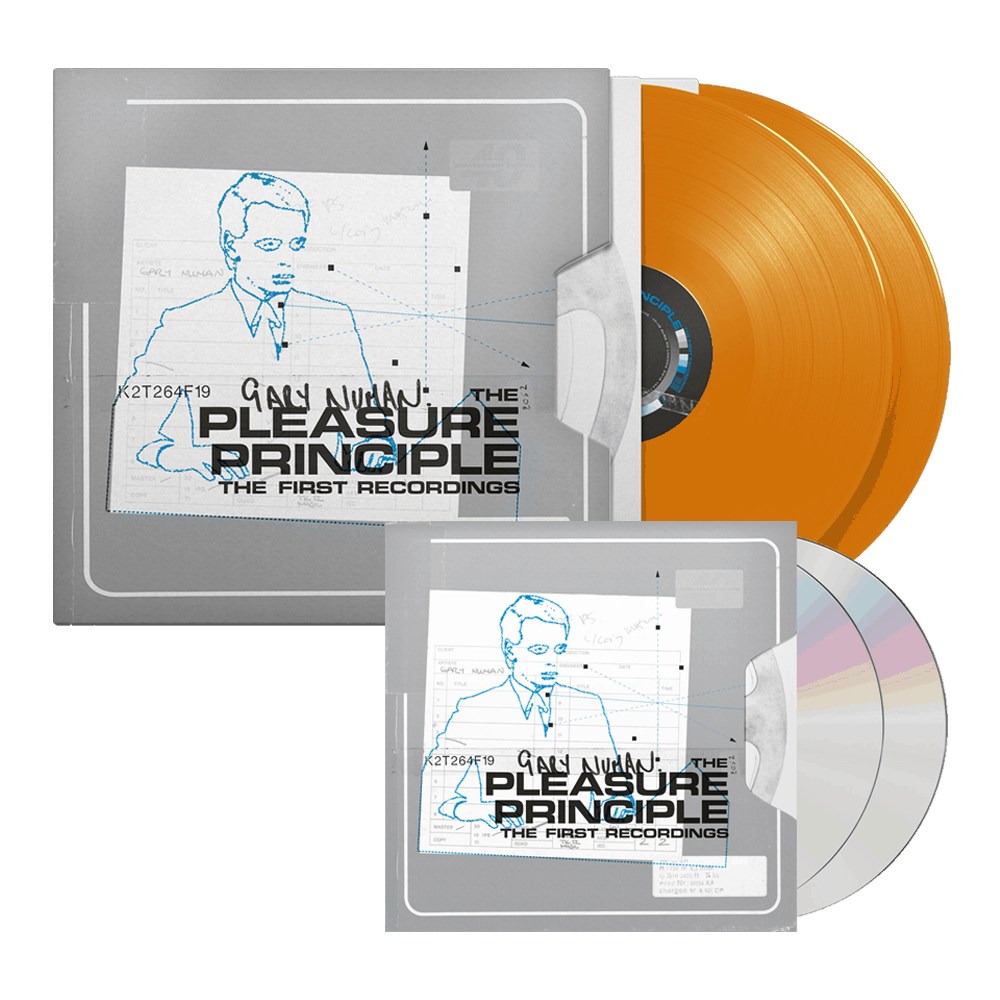 Buy Online Gary Numan - The Pleasure Principle – The First Recordings 2CD + Orange Double Vinyl