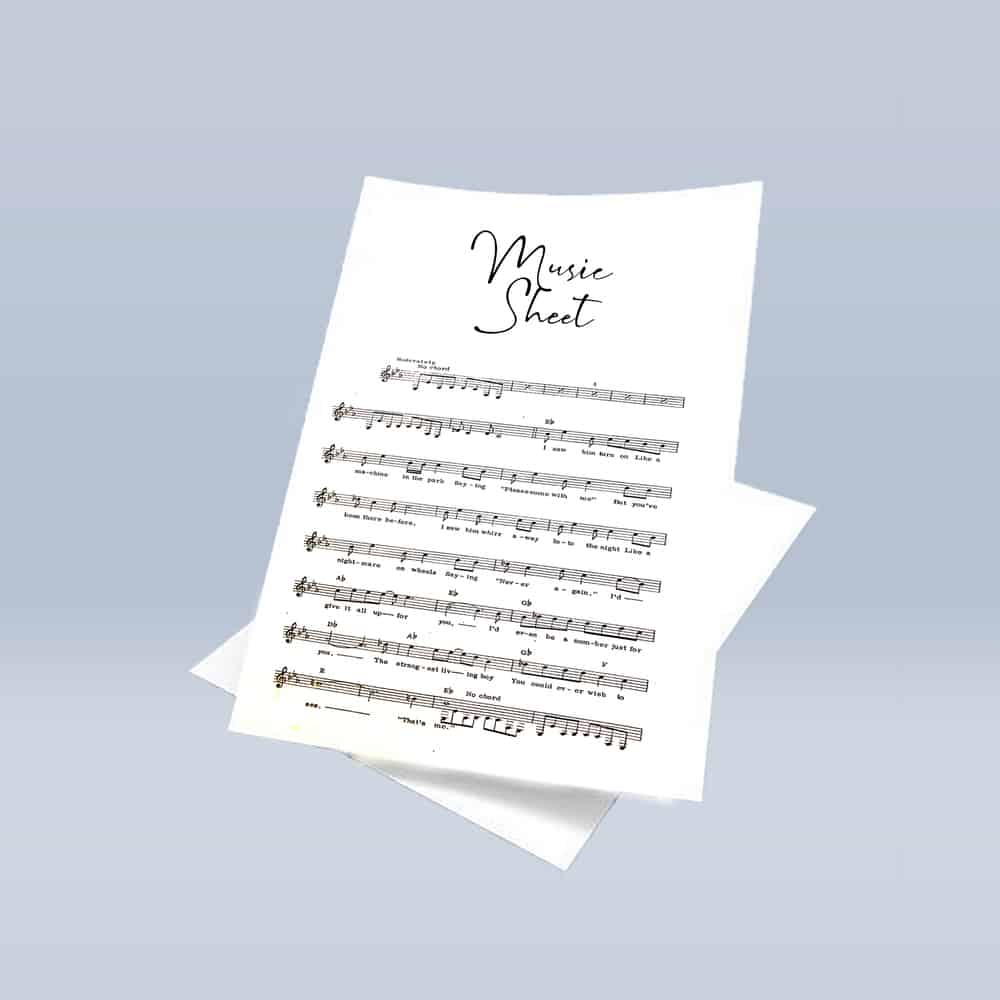 Music Sheets (Original Ink) -  Various Songs