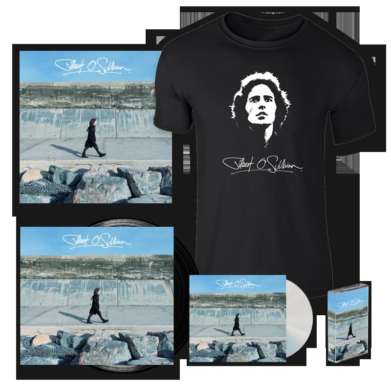 Buy Online Gilbert O'Sullivan - Gilbert O Sullivan CD + Vinyl + Cassette + 12x12 Print (Signed) + T-Shirt