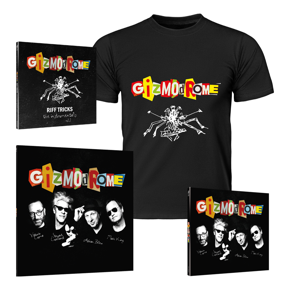 Buy Online Gizmodrome - Gizmodrome Vinyl LP + CD Digipak + Instrumental EP + T-Shirt