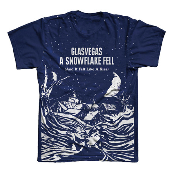 Buy Online Glasvegas - A Snowflake Fell (And It Felt Like A Kiss) EP Cover T-Shirt
