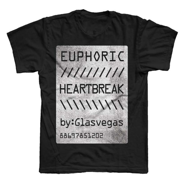 Buy Online Glasvegas - Black Euphoric Heartbreak T-Shirt