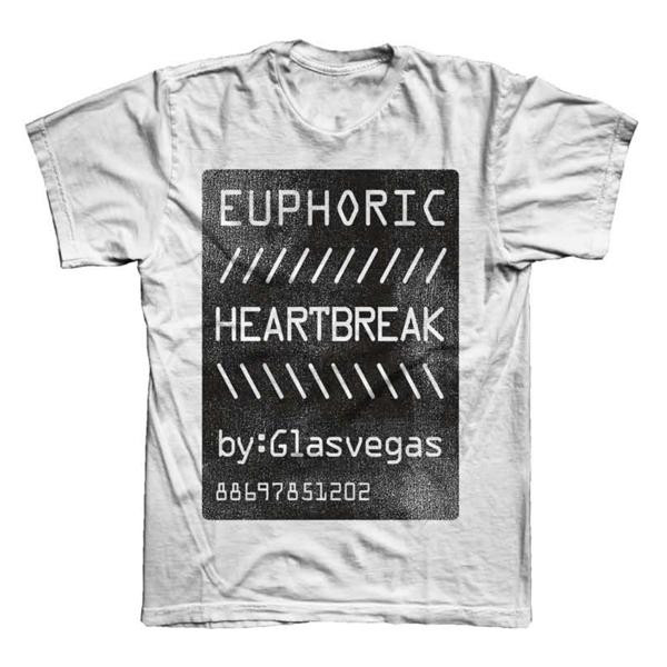 Buy Online Glasvegas - White Euphoric Heartbreak T-Shirt