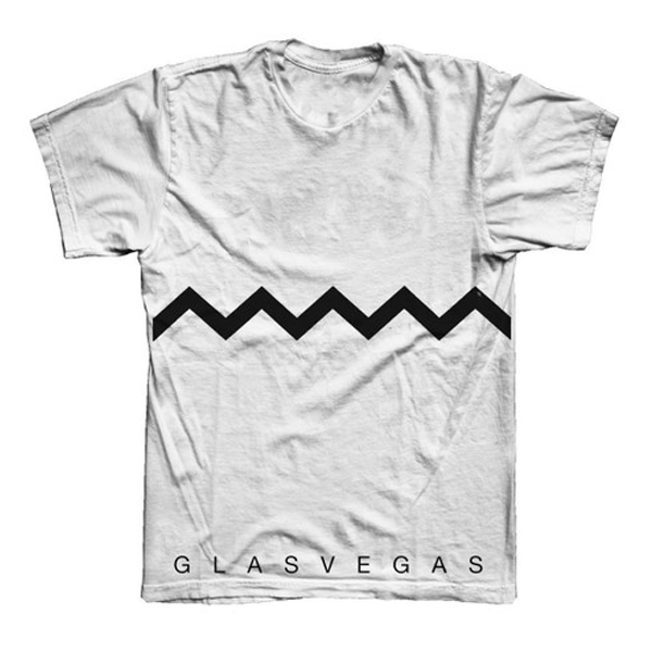 Buy Online Glasvegas - White Chevron T-Shirt