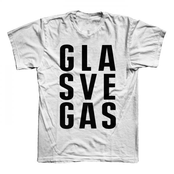 Buy Online Glasvegas - White FWA Stacked Logo T-Shirt