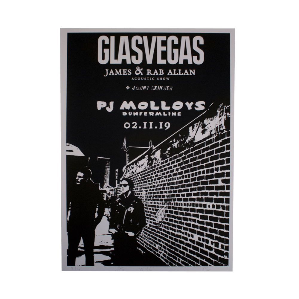 Buy Online Glasvegas - Acoustic Tour Print - Dunfermline