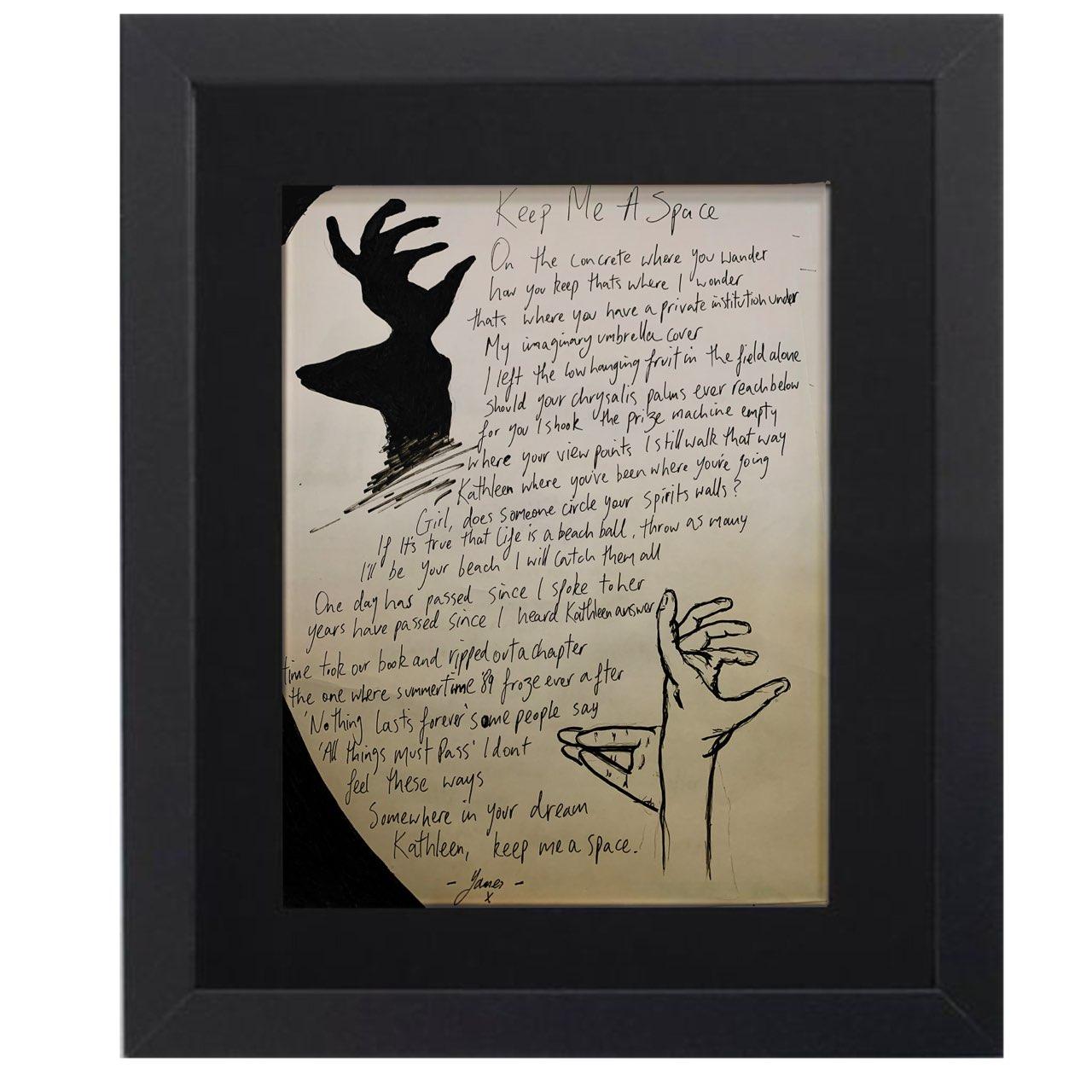 Buy Online Glasvegas - Framed Hand Written Lyric Sheet