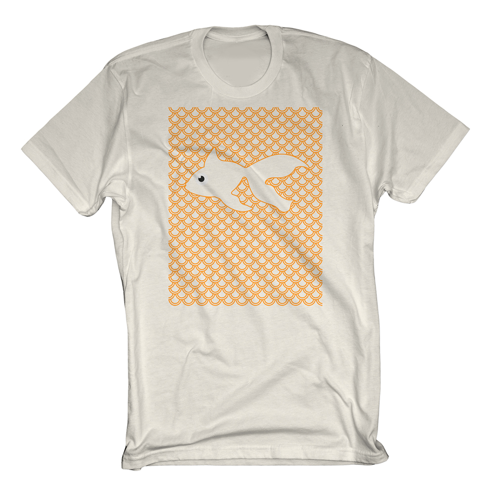 Buy Online GoldFish - Fish Scale Tee White
