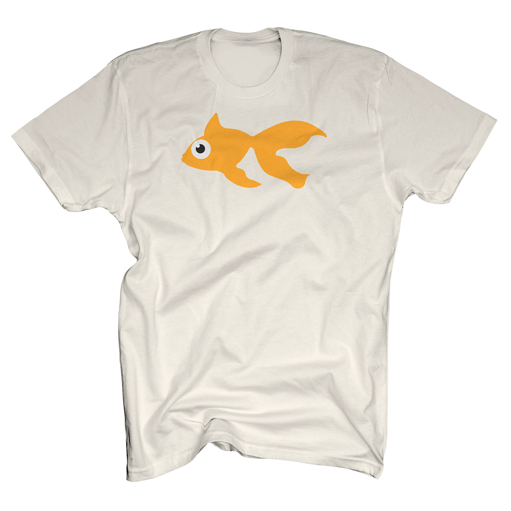 Buy Online GoldFish - Blinky Tee - Orange / Natural White