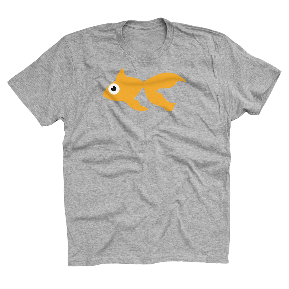 Buy Online GoldFish - Blinky Tee - Orange / Heather Grey